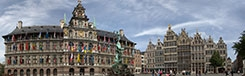 In de straten van Antwerpen
